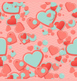 Pink Scrapbook paper hearts with circles and vector image vector image