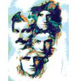 queen legend rock band vector image vector image