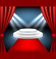 red carpet award stairs to podium event winner vector image vector image