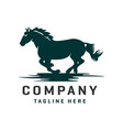 running horse logo design template vector image vector image