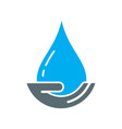 save water logo vector image