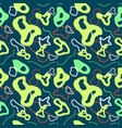 seamless abstract pattern in green vector image vector image