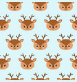 seamless childish pattern with cute deer creative vector image vector image