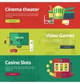 Set of flat design concepts for cinema theater vector image vector image