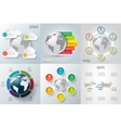 set of infographics with the planet earth vector image vector image