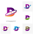 set of letter d planet logo design concept vector image