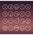 Set of thin line emoticons vector image vector image