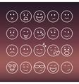 set thin line emoticons vector image vector image