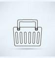 shopping basket icon vector image