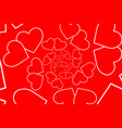 two hearts red and white vector image vector image