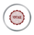 Vintage icon in cartoon style isolated on white vector image vector image