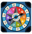 vintage spinner for board game with spinning arrow vector image