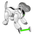 white dog toy on white background vector image vector image
