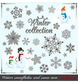 winter collection vector image vector image