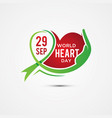 world heart day letter vector image