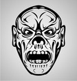 Zombie Face Tribal vector image vector image