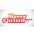 christmas sticker vector image