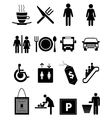 Hotel and restaurant icons set vector image