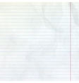 Lined sheet of notepad EPS 10 vector image