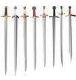set of swords vector image