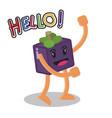 smiling mangosteen fruit cartoon mascot character vector image