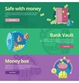 Set of flat design concepts for safe and money vector image