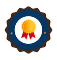 colorful circular emblem with medal prize vector image