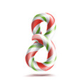 8 number eight 3d number sign figure 8 vector image vector image