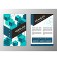 Abstract Hexagon Geometric Brochure Template Flyer vector image