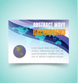 abstract waves set3 vector image vector image