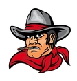 American cowboy man vector image vector image