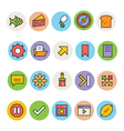 Basic Colored Icons 12 vector image vector image