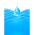 Blue realistic water background vector image vector image