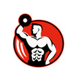 body builder lifting a dumbbell vector image vector image