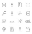 Business and office icon set outline vector image vector image