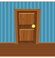 Cartoon Wooden Door Home Interior vector image vector image