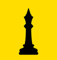 chess black king vector image