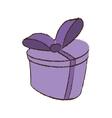 color gift box ribbon ornament celebration sketch vector image vector image