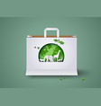 concept ecology and environment vector image vector image