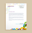 creative circle shapes letterhead design vector image vector image