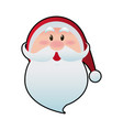 cute face santa claus christmas character vector image