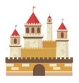 cute fantasy middle sentury castle isolated vector image