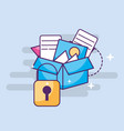 cyber security storage box with files vector image