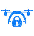 drone loading grunge icon vector image vector image