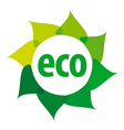 eco logo in the shape of a flower vector image vector image