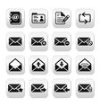 Email mailbox buttons set vector image vector image