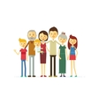 family portrait at the simple style vector image vector image
