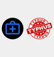 first-aid case icon and distress typhus vector image vector image