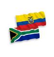 flags ecuador and republic south africa on a vector image vector image