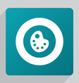 flat painter palette icon vector image